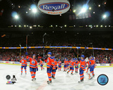 The Edmonton Oilers salute the crowd after the Rexall Place Final Game- April 6, 2016 Photo