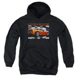 Youth Hoodie: Chevy- Orange Z06 Vette Pullover Hoodie