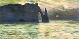 Monet- Etretat Sunset, C. 1883 Poster van Claude Monet