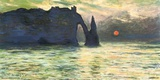 Monet- Etretat Sunset, C. 1883 Posters by Claude Monet