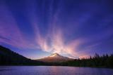Hood Light, Magic Mood at Mount Hood, Trillium Lake, Oregon Portland Photographic Print by Vincent James