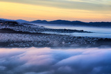 Drifting Morning Fog Over Sea Cliff, Sunset and Richmond San Francisco Photographic Print by Vincent James
