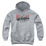 Youth Hoodie: Chevy- Distressed El Camino SS Pullover Hoodie