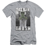 Sesame Street- Oscar Talkin Trash (Slim Fit) T-shirts