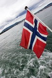 Norwegian Flag on a Boat Photographic Print by Felipe Rodríguez