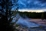 Morning Brew, Mood and Mist at Yellowstone National Park, Wyoming Photographic Print by Vincent James