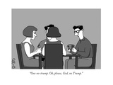 """One no-trump. Oh, please, God, no Trump."" - New Yorker Cartoon Premium Giclee Print by J.C. Duffy"