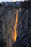 The Fire Falls, Yosemite Horsetail Falls, Firefall, Yosemite National Park Photographic Print by Vincent James