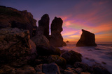 Dark Moody Sunset, Humboldt Coast, Northern California Photographic Print by Vincent James