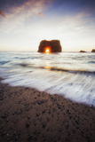 Arch Star and Beach Scene, Mendocino Coast, Northern California Photographic Print by Vincent James