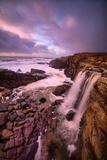 Dream Falls, Ocean Waterfall, California Coast, Sonoma Photographic Print by Vincent James