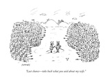 """Last chanceÑtake back what you said about my wife."" - New Yorker Cartoon Premium Giclee Print by David Sipress"