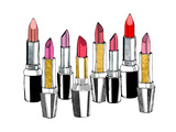 Lipsticks Pósters por Peach & Gold