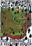 Save the Rain Serigraph by Friedensreich Hundertwasser