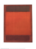 No. 202 (Orange, Brown) Collectable Print by Mark Rothko
