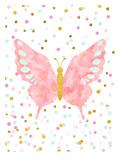Papillon Affiches par  Peach & Gold