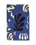 Composition Fond Bleu Reproductions de collection par Henri Matisse