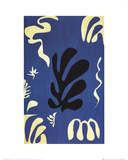 Composition Fond Bleu Collectable Print by Henri Matisse