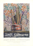 Savarin Monotype 5 Prints by Jasper Johns