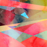 Abstract Colorful Watercolor Background Posters by  tanor27