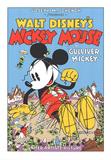 Walt Disney's Mickey Mouse-Gulliver Mickey Siebdruck von  Unknown