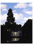 El imperio de las luces Lámina por Rene Magritte