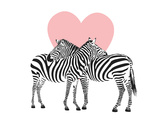 Zebra Posters af  Peach & Gold