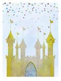 Peach & Gold - Castle - Poster