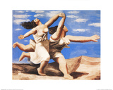 Two Women Running on the Beach Collectable Print by Pablo Picasso