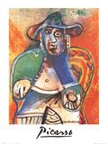Vieil Homme Assis, Mougins Sammlerdrucke von Pablo Picasso