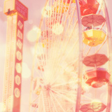 Carnival Lights on a Big Wheel Print by Myan Soffia