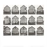 Half-Timbered Houses (no text) Poster von Bernhard And Hilla Becher