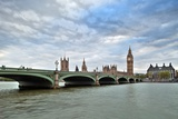 Westminster Bridge over the Thames with the Big Ben and the City of Westminster on the Background Photographic Print by Felipe Rodriguez