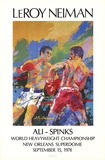 Ali - Spinks Collectable Print by LeRoy Neiman