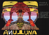 Luna Luna Serigrafi (silketryk) af Friedensreich Hundertwasser
