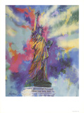 Estatua de la libertad Láminas coleccionables por LeRoy Neiman
