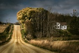 Rural Road Disappearing into Distance in USA Wall Mural by Jody Miller