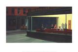 Halcones de la noche Póster por Edward Hopper