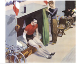Bicycle Rider Poster by Edward Hopper
