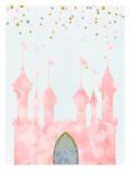 Pink Castle Reprodukcje autor Peach & Gold