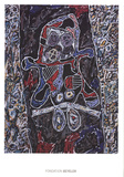 Automobile a la route noire Prints by Jean Dubuffet