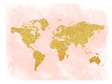 World Map 4 Prints by  Peach & Gold