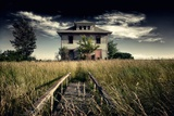 Rural Landscape with Dramatic Sky Wall Mural