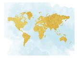 World Map 3 Plakaty autor Peach & Gold
