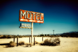 Motel Roadside Sign Wall Mural by Jody Miller