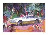 Rendezvous a la Corvette Collectable Print by LeRoy Neiman