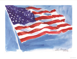 American Flag Prints by LeRoy Neiman