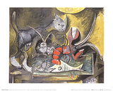 Still Life, Cat and Lobster Poster von Pablo Picasso