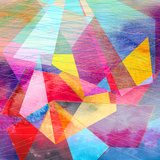 Abstract Watercolor Geometric Background Posters by  tanor27