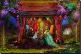 A Mad Tea Party Stretched Canvas Print